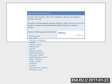 Zrzut strony Nieoficjalne forum modu First Strike do gry Battlefield 2142