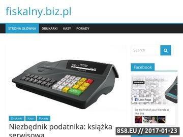 Zrzut strony O kasach i drukarkach fiskalnych dla polskich firm