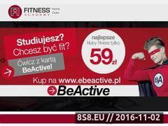Miniaturka domeny www.fitnessacademy.pl