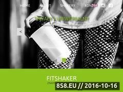 Miniaturka fitshaker.pl (Dobór kolorystyczny shakera oraz jego zamówienie)