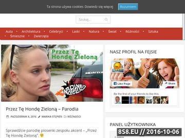 Zrzut strony Portal rozrywkowy
