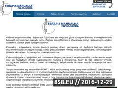 Miniaturka Fizjoterapia, rehabilitacja - ból kręgosłupa, stawów (fizjo-sfera.pl)