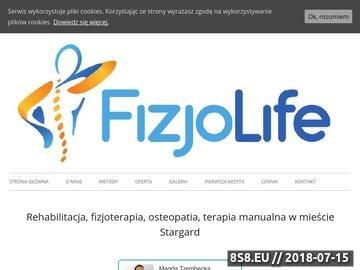 Zrzut strony Rehabilitacja, fizjoterapia oraz osteopatia
