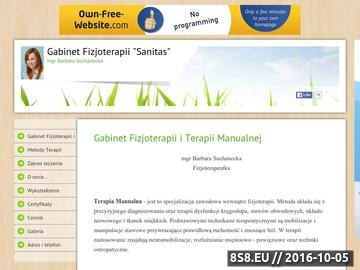 Zrzut strony Gabinet Terapii Manualnej i Fizjoterapii