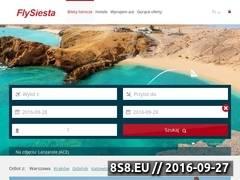 Miniaturka www.flysiesta.pl (Wyszukiwarka tanich biletów lotniczych)