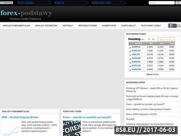 Zrzut strony Forex - podstawy giełdy walutowej