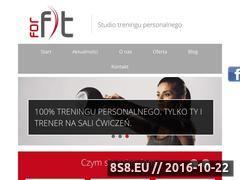 Miniaturka www.forfit.com.pl (Trening personalny Wrocław)