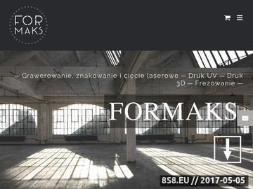 Zrzut strony Znakowanie laserem - Formaks