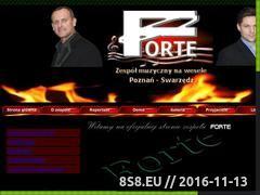 Miniaturka domeny www.forte-muzyczny.pl