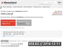 Miniaturka domeny www.fortis.com.pl