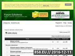 Miniaturka domeny www.forum-szkolenia.pl