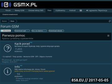 Zrzut strony GSMX.pl Forum - Wszystko do Twojej komórki za DARMO