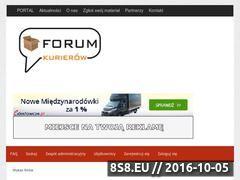Miniaturka www.forumkurierow.pl (Polskie Forum Kurierów)