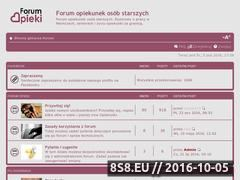 Miniaturka forumopieki.pl (Forum dla opiekunek osób starszych)
