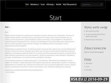 Zrzut strony Forum WAWA - forum dyskusyjno - ogłoszeniowe Warszawy i okolic