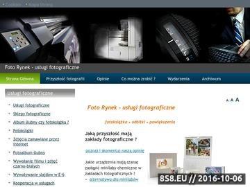 Zrzut strony Informacje o usługach fotograficznych w Polsce