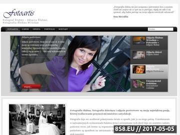 Zrzut strony Fotografia Ślubna Wrocław, Zdjęcia Wrocław.