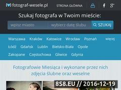 Miniaturka domeny www.fotograf-wesele.pl