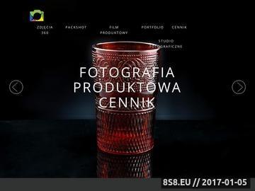 Zrzut strony Usługi w zakresie fotografii prodktowej, packshotów i zdjęć 360