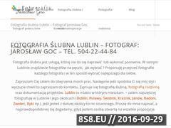 Miniaturka www.fotografia-slubna-lublin.pl (Fotografia ślubna i weselna)