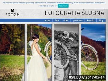 Zrzut strony FOTOGRAFIA ŚLUBNA FOTON Nowy Sącz