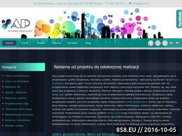 Zrzut strony AR Foxlogic - projektowanie stron www, litery przestrzenne Poznań, szyldy 3D