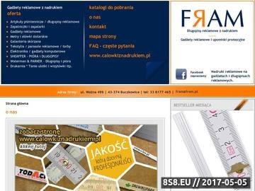 Zrzut strony Upominki reklamowe, gadżety i długopisy z nadrukiem - FRAM