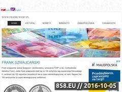 Miniaturka frank.webt.pl (Informacje o franku szwajcarskim)