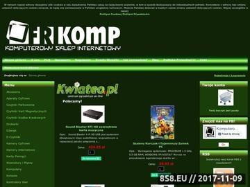 Zrzut strony Komputerowy sklep internetowy FRIKOMP - sprzęt komputerowy, Ostrów