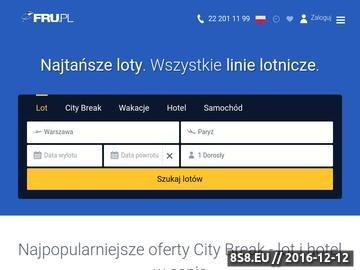 Zrzut strony Bilety Lotnicze - Tanie Loty - FRU.PL