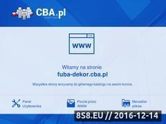 Miniaturka domeny www.fuba-dekor.cba.pl