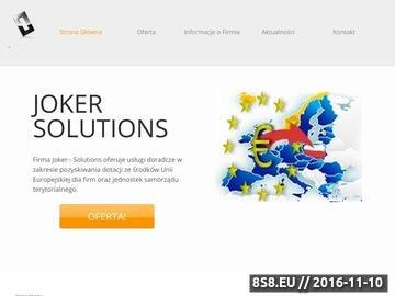 Zrzut strony Pozyskiwanie Funduszy Unijnych