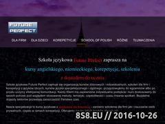 Miniaturka domeny futureperfect.pl
