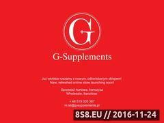 Miniaturka g-supplements.pl (Recenzje i testy suplementów diety)