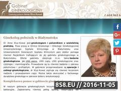 Miniaturka domeny www.gabinetginekologicznybialystok.pl