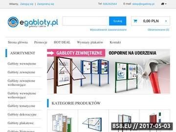 Zrzut strony Sklep gablotikon.pl - świat gablot, tablic i małej architektury