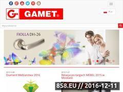 Miniaturka domeny www.gamet.eu