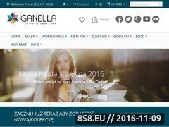 Miniaturka Sklep internetowy odzieżowy - Ganela (ganella.pl)
