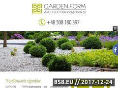 Miniaturka gardenform.pl (Projektowanie ogrodów Szczecin)