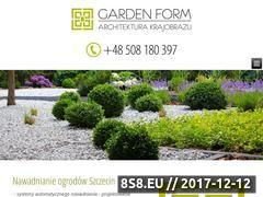 Miniaturka domeny gardenform.szczecin.pl