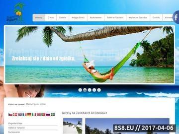 Zrzut strony Wakacje na Zanzibarze
