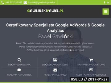 Zrzut strony Specjalista AdWords Paweł Gawliński