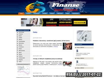 Zrzut strony Finanse - Portal Finansowy
