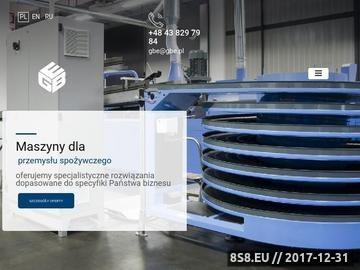 Zrzut strony Producent Maszyn dla Przemysłu Spożywczego