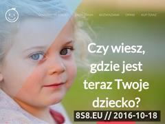Miniaturka www.gdziejestdziecko.net (Strona o bezpieczeństwie i monitorowaniu dzieci)