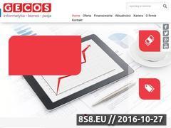 Miniaturka domeny www.gecos.pl