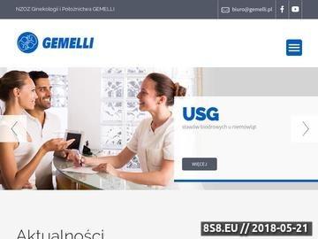 Zrzut strony Gemelli - profesjonalne kursy rodzenia