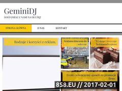 Miniaturka domeny www.geminidj.pl