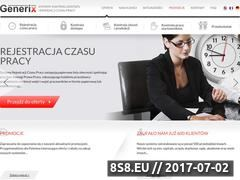 Miniaturka generix.com.pl (Rejestracja czasu pracy)