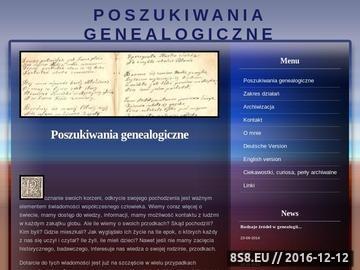 Zrzut strony Poszukiwania genealogiczne i prowadzenie prac archiwalnych